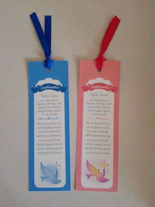 Boy / Girl Confirmation Bookmark